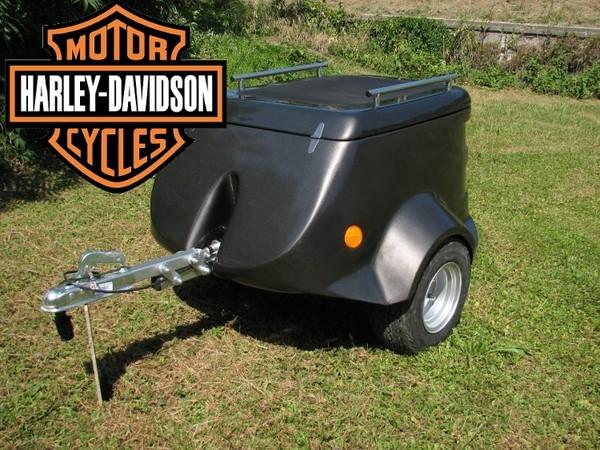 remorque bagagere pour harley moto side car trike. Black Bedroom Furniture Sets. Home Design Ideas